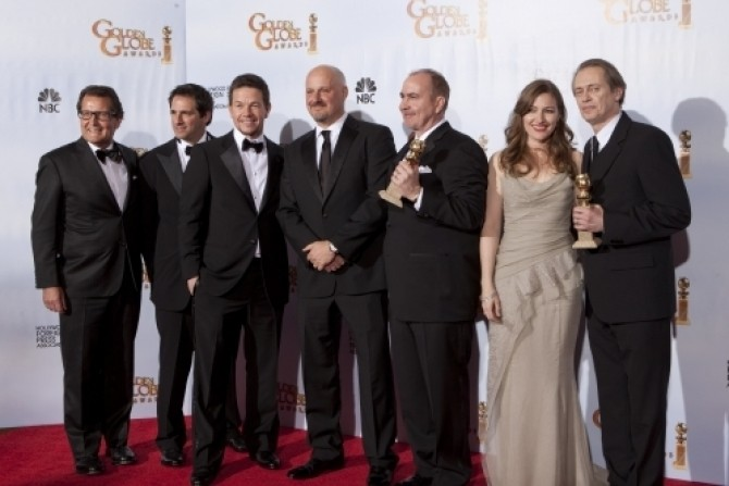 Mark Wahlberg; Terence Winter; actress Kelly Macdonald; and actor Steve Buscemi