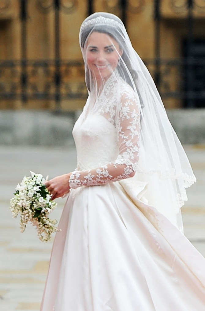 kate middleton in rochie de mireasa 1