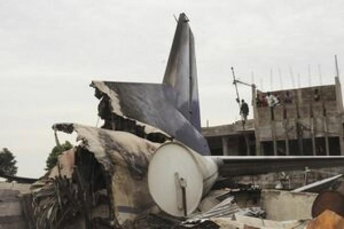 avion ONU prabusit in Congo