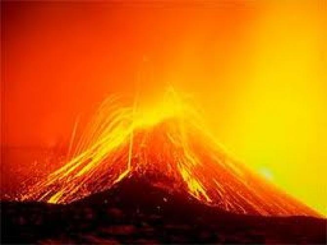 eruptie a vulcanuli Lokolon