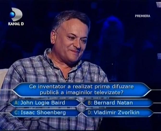"victor rusu, primul concurent de la ""Vrei sa fi milionar?"""