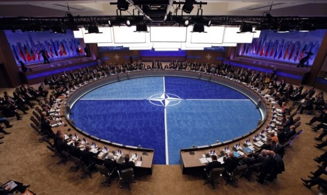 Leaders take part in the NATO Summit meeting in Chicago