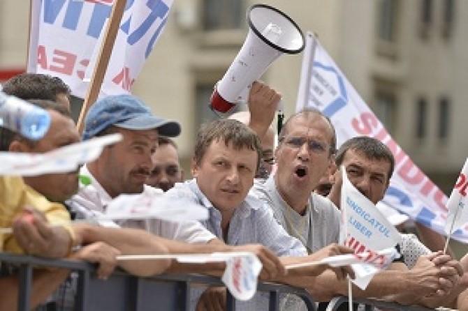 PROTEST - ANGAJATI OLTCHIM - BUCURESTI