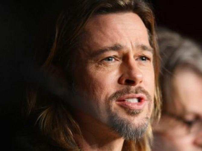 US actor Brad Pitt attends the press con