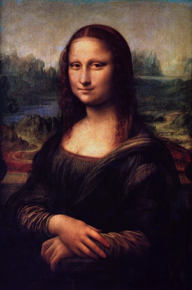vinci - Mona Lisa (La Gioconda). 1503-1505. Oil on panel. 77 x 53 cm. Louvre Museum, Paris@@