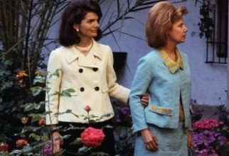 Jacqueline Kennedy and Duchess of Alba in Outdoor Garden