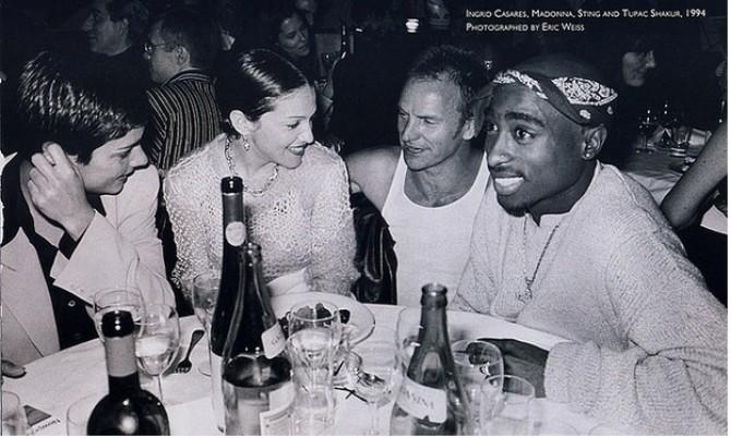 Madonna, Sting, Tupac