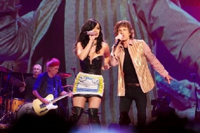 """Katy Perry Joins The Rolling Stones During Their """"50 and Counting"""" Tour In Las Vegas, Nevada"""