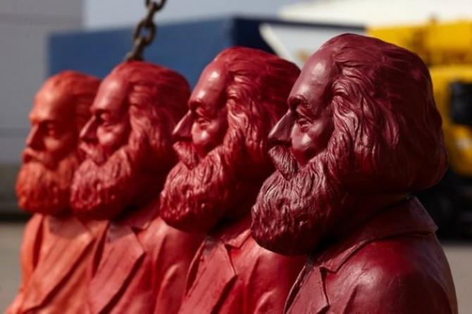 Karl-Marx Figuren in Trier