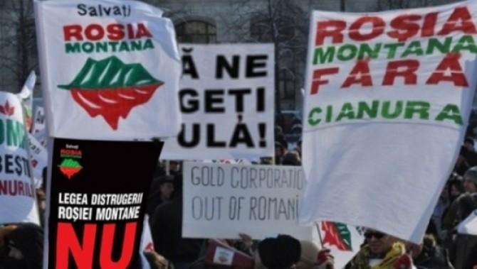 Protest Roșia Montană