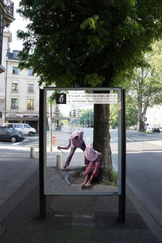 Campanie genială! Ce au văzut oamenii în stațiile de autobuz (1)