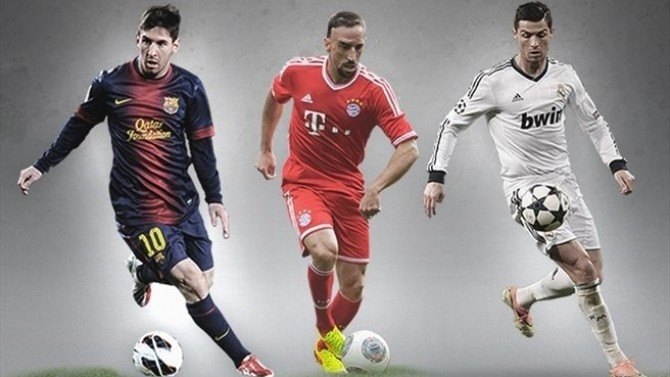 Messi Ribery Ronaldo