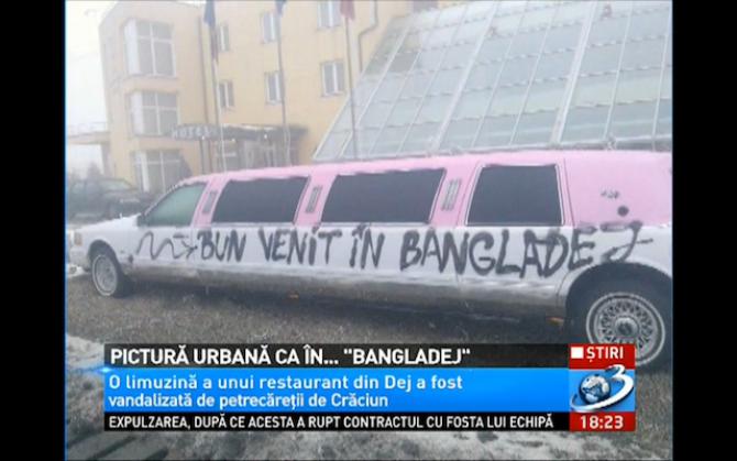 limuzina vandalizata
