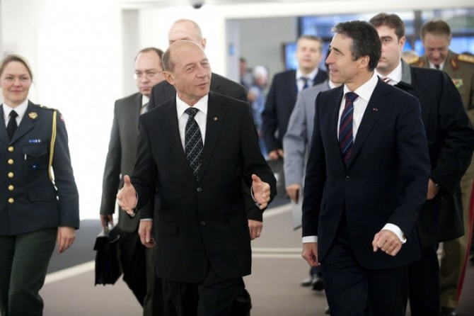 Visit to NATO by President Traian Basescu of Romania