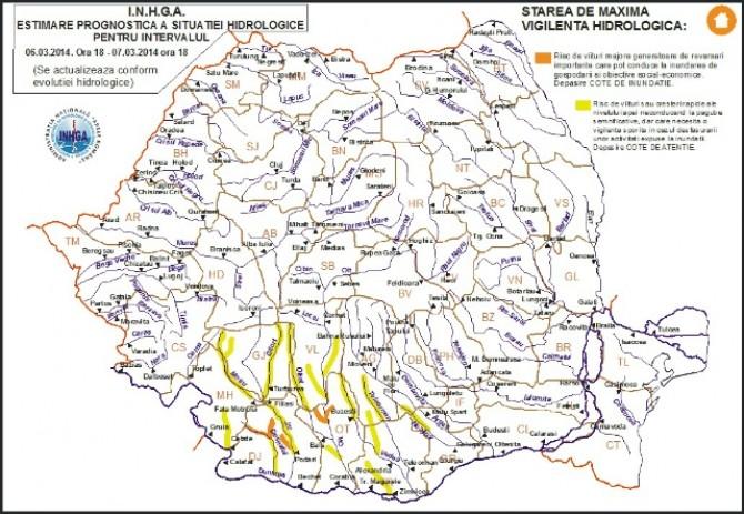 Cod Portocaliu De Inundații Pe Cinci Rauri Din Romania Vezi