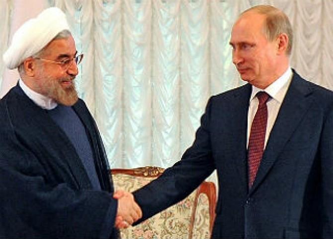 Președintele Iranului, Hassan Rouhani, și liderul de la Kremlin, Vladimir Putin