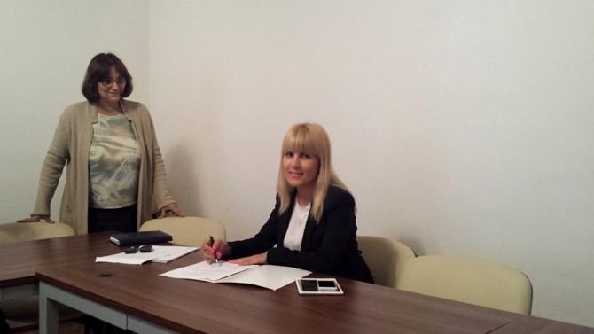 Dovada foto a candidaturii, postată de Elena Udrea