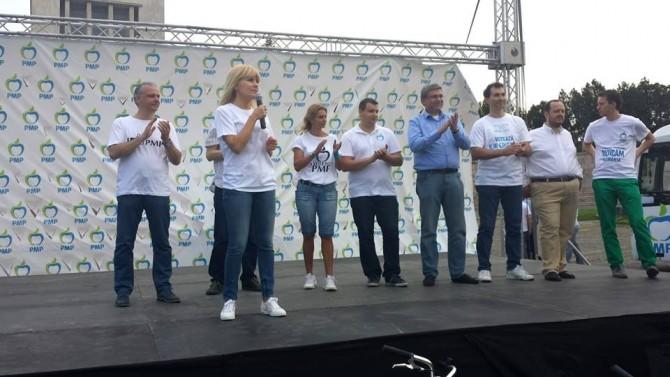 Teodor Baconschi, alături de alți lideri ai PMP