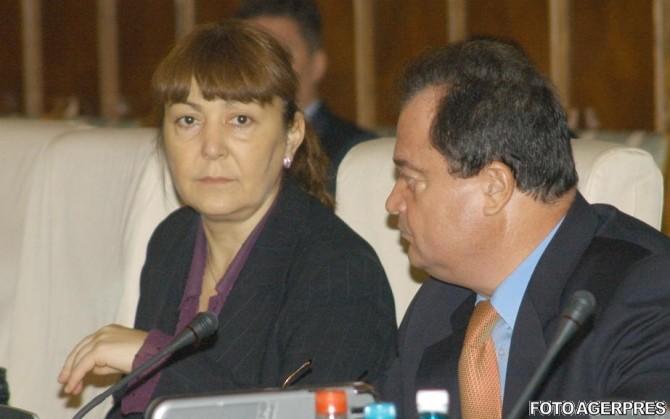 Monica Macovei și Vasile Blaga