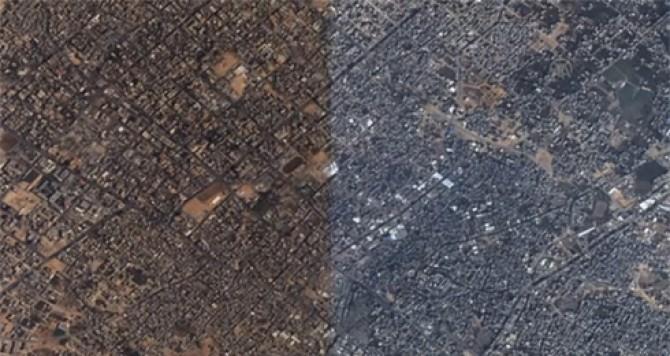 Gaza, înainte și după. Foto: ynetnews.com
