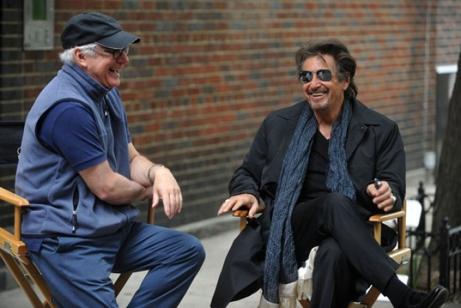 Al Pacino cu regizorul Berry Levinson