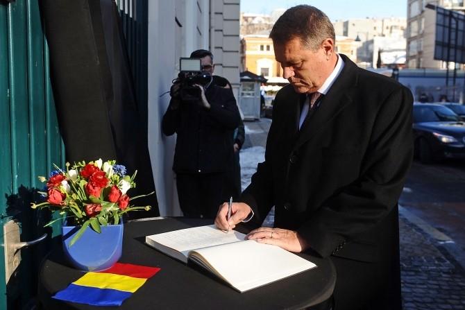 Klaus Iohannis, la Ambasada Franței