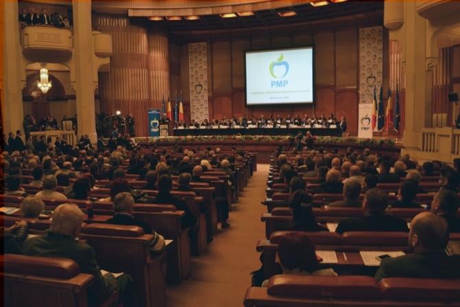 În timpul discursului lui Traian Băsescu