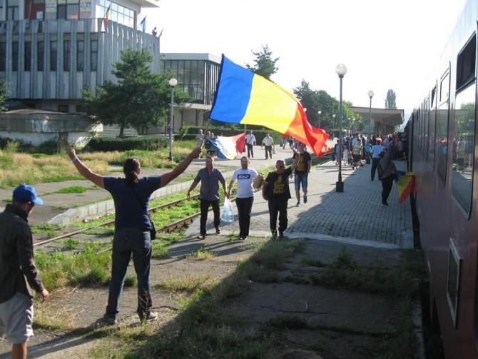 Unioniștii, în gara de la Bârlad