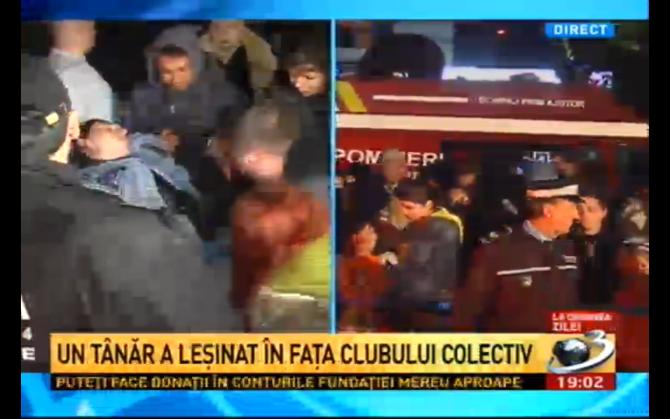 Un tânăr a leșinat în fața clubului Colectiv