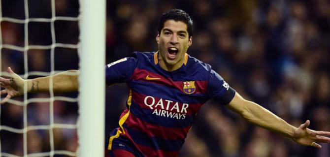 Suarez, marcatorul a două goluri pentru Barcelona