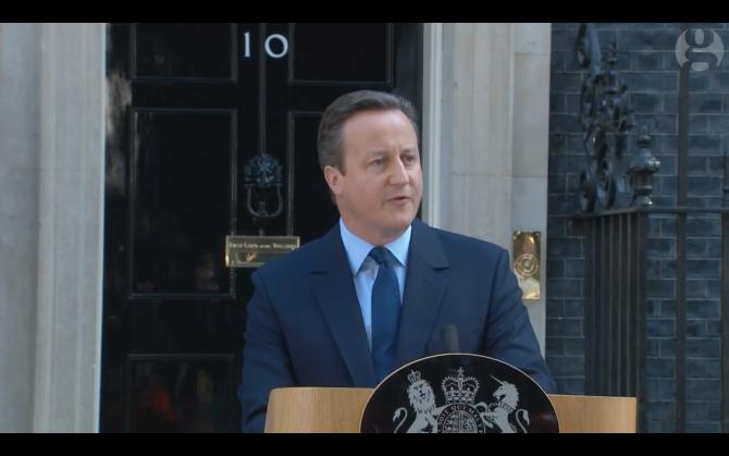 David Cameron, în dimineața de după referendum
