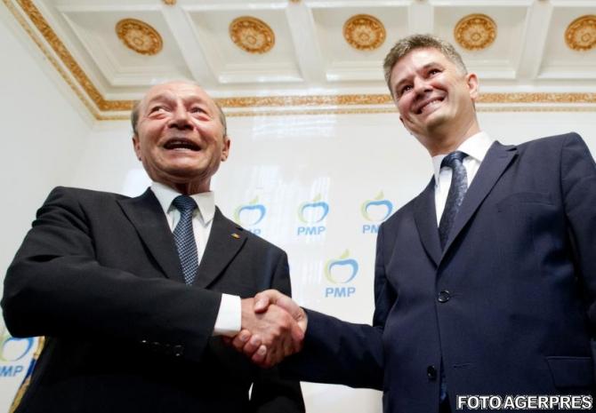 Traian Băsescu și fostul președinte UNPR