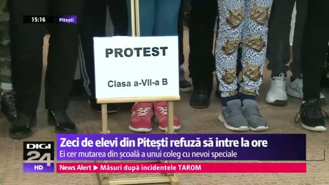 elevii protest
