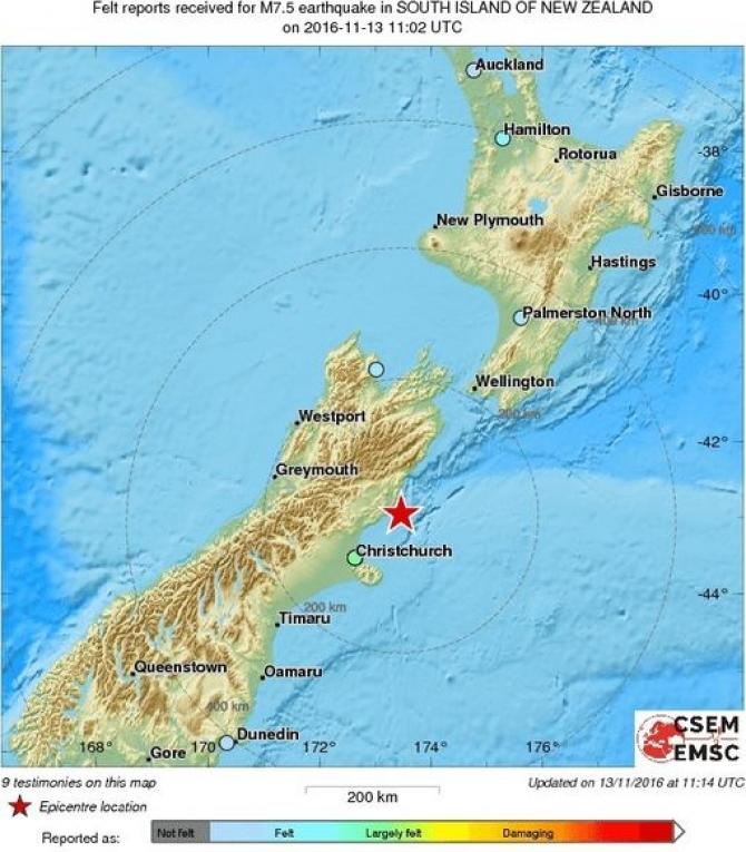 Cutremur Noua Zeelandă Cele Două Mari Insule S Au Apropiat Dcnews