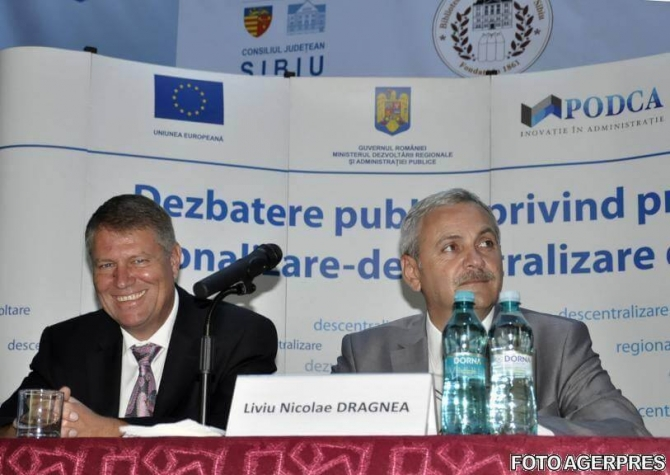 Klaus Iohannis și Liviu Dragnea