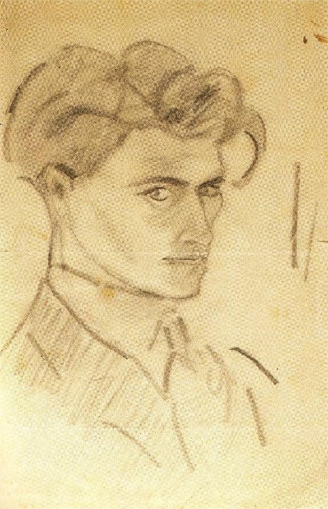 Antonin Artaud, Autoportret, 1920