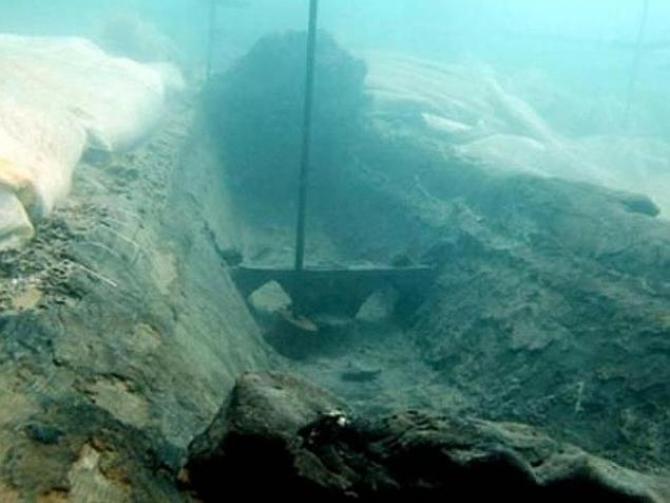 Epava în care au fost descoperite lingourile misterioase