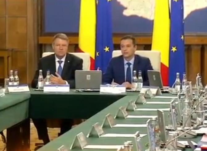 Klaus iohannis la sedinta de Guvern Grindeanu