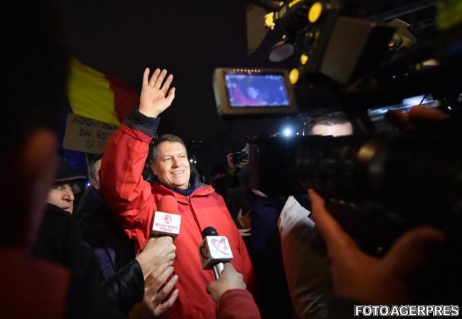 Klaus Iohannis proteste