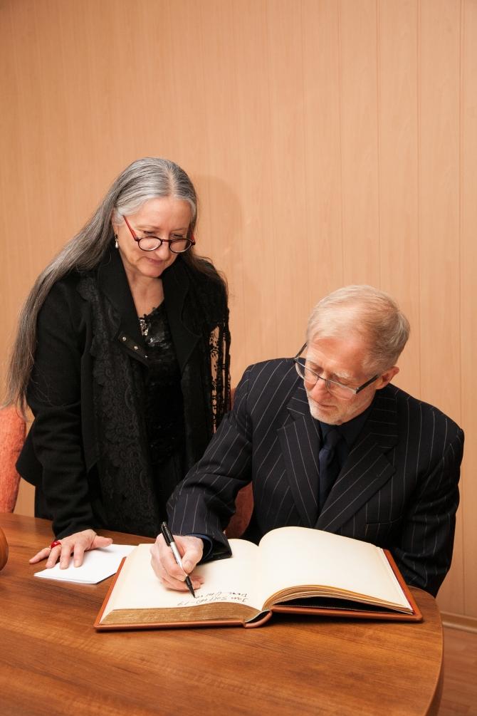 Mats Ek și Ana Laguna la ceremonia de la UNATC