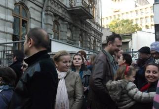 Ondine Gherguț, protest la DNA. Foto: Facebook Camelia Badea