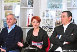 Liviu Dragnea- Lia Olguța Vasilescu- Victor Ponta