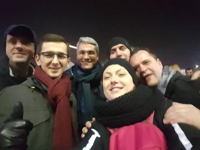 Dragos Pislaru, la proteste (Facebook)