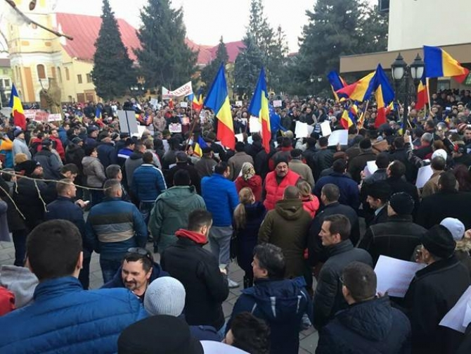 Proteste Caransebeș PSD