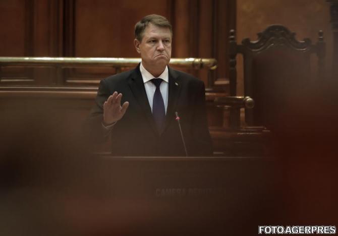 Klaus Iohannis Parlament