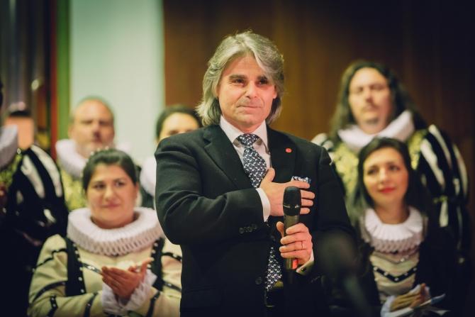 Dirijorul Ion Marin, sosit special din Elveția pentru a aplauda Corul Madrigal