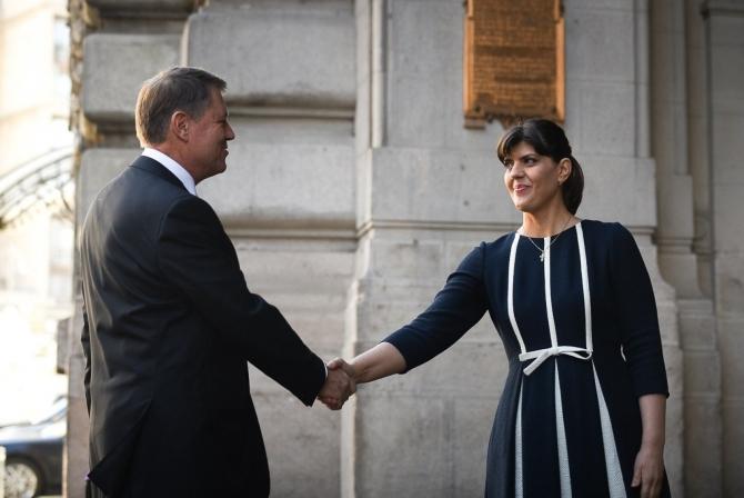 Klaus Iohannis, alături de Laura Codruța Kovesi