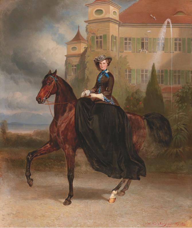 Carl Theodor von Piloty si Franz Adam, Elisabetta de Austria