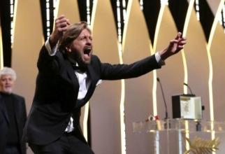 Ruben Ostlund la anunţarea Premiului Palme d'Or pentru The Square
