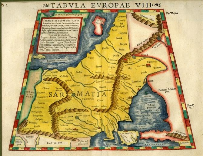 Munster Tabula Europae VIII 1545